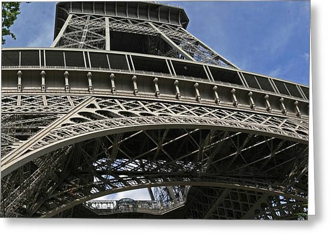 Eiffel Tower First Balcony Greeting Card by Gary Lobdell
