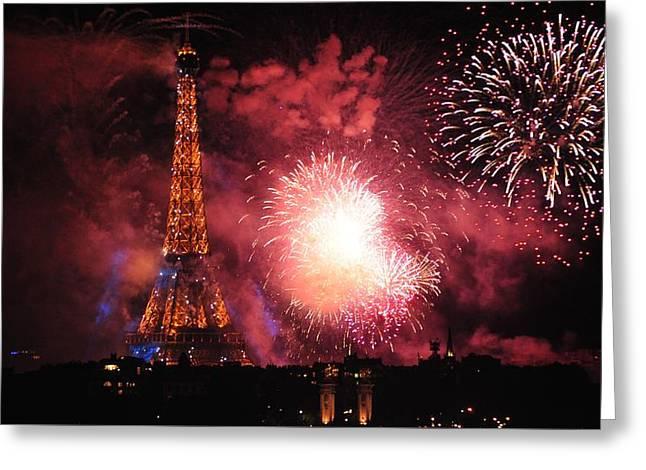 Eiffel Tower In All Her Splendor Greeting Card