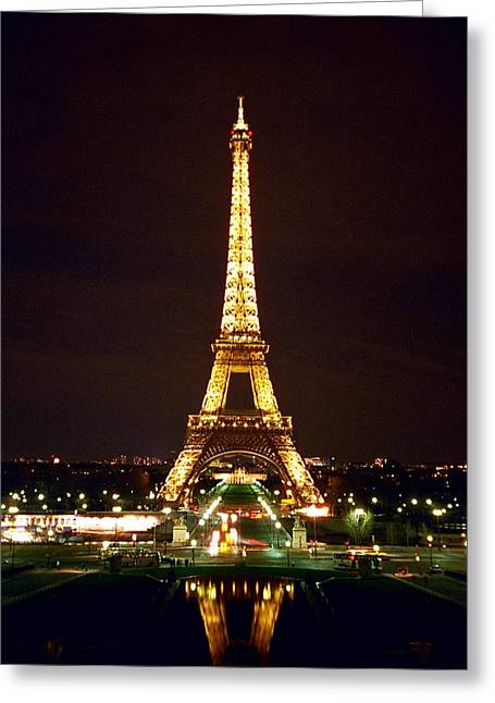 Eiffel Tower In Color Greeting Card by Heidi Hermes