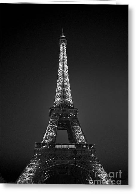 Eiffel Tower Infrared Greeting Card
