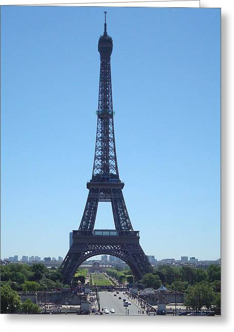 Greeting Card featuring the photograph Eiffel Tower by Kay Gilley