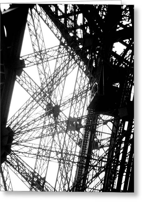 Eiffel Tower Lift Greeting Card by Rita Haeussler