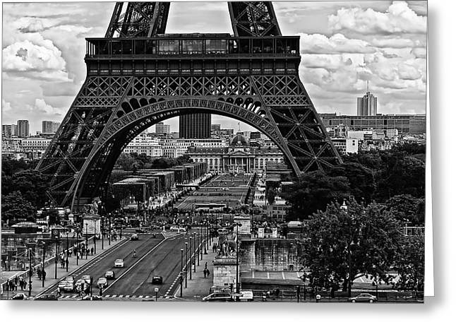 Greeting Card featuring the photograph Eiffel Tower by Louis Dallara