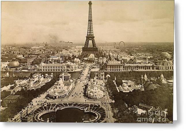 Eiffel Tower, Paris, 1900 Greeting Card by Granger