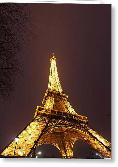 Eiffel Tower - Paris France - 011313 Greeting Card by DC Photographer