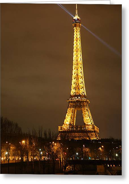 Eiffel Tower - Paris France - 011319 Greeting Card by DC Photographer