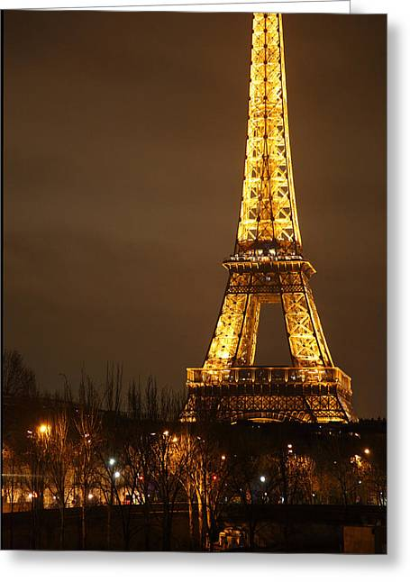 Eiffel Tower - Paris France - 011320 Greeting Card by DC Photographer