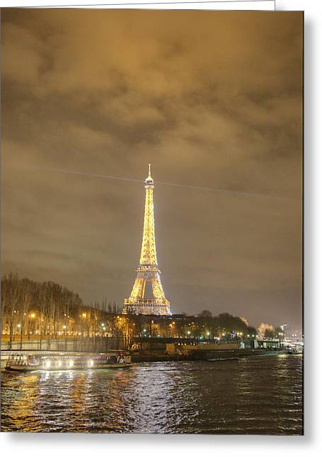 Eiffel Tower - Paris France - 011342 Greeting Card by DC Photographer
