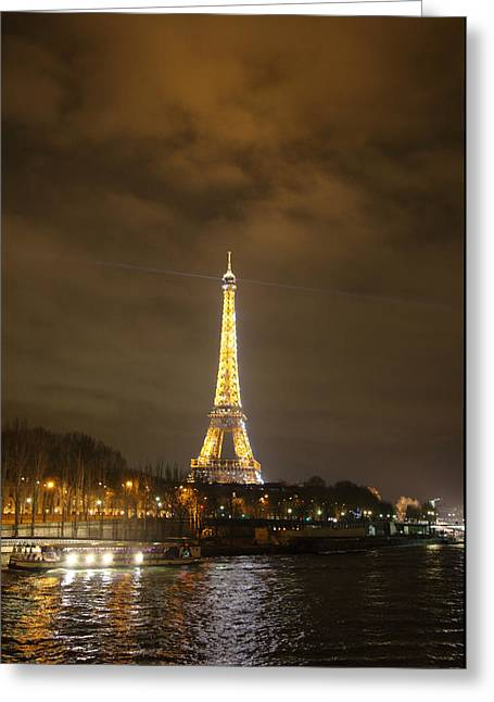 Eiffel Tower - Paris France - 011343 Greeting Card by DC Photographer