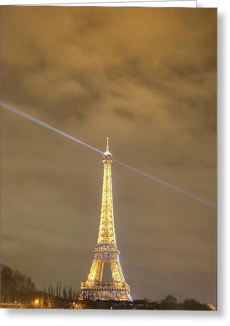 Eiffel Tower - Paris France - 011345 Greeting Card by DC Photographer