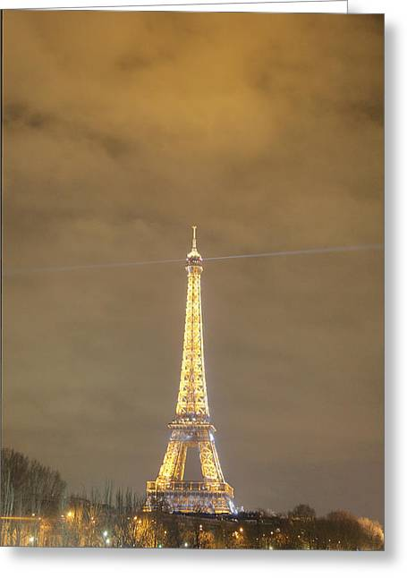 Eiffel Tower - Paris France - 011351 Greeting Card
