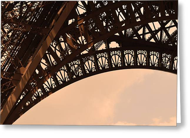Eiffel Tower Paris France Arc Greeting Card by Patricia Awapara
