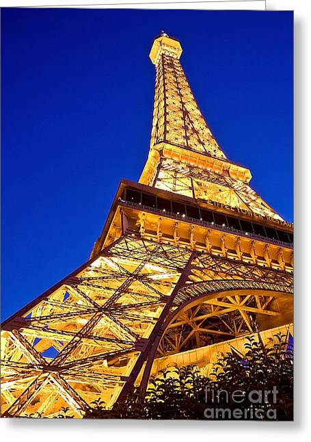 Eiffel Tower Paris Las Vegas Greeting Card