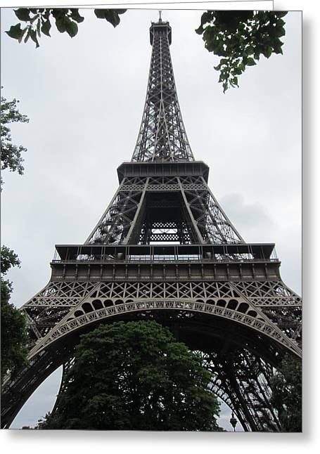 Greeting Card featuring the photograph Eiffel Tower by Pema Hou