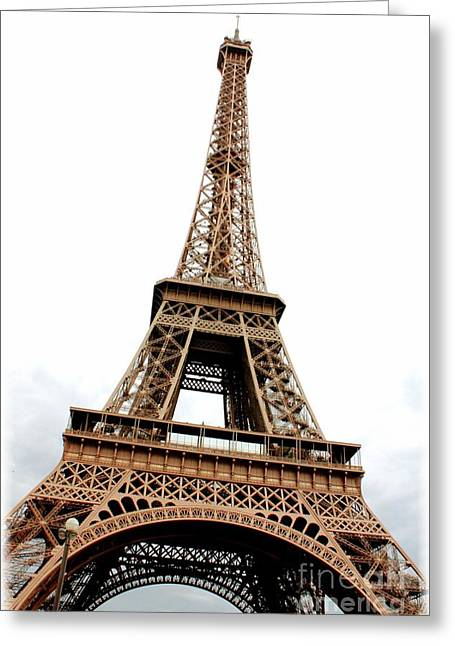 Eiffel Tower Perspective Greeting Card by Carol Groenen