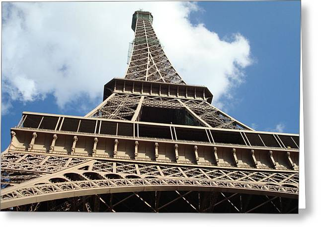 Eiffel Tower Perspective Greeting Card by Kay Gilley