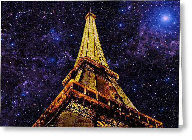 Eiffel Tower Photographic Art Greeting Card