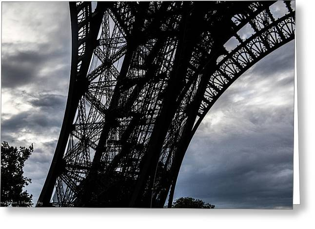 Greeting Card featuring the photograph Eiffel Tower Storm by Ross Henton