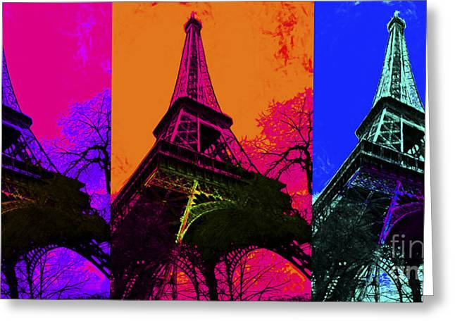 Eiffel Tower Three 20130116 Greeting Card by Wingsdomain Art and Photography