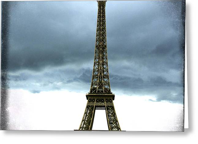 Eiffel Tower. Tour Eiffel. Paris Greeting Card by Bernard Jaubert