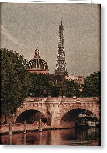 Eiffeltower With Pont Neuf Greeting Card