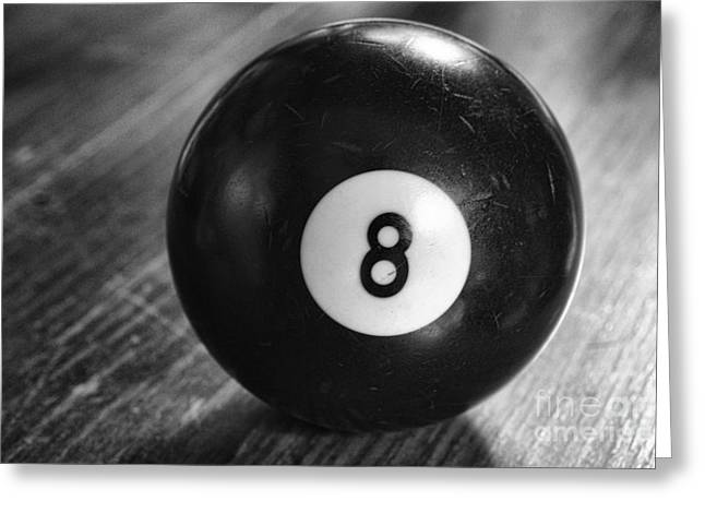 Eight Ball Greeting Card by Paul Ward