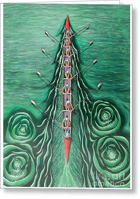 Eight Oars By O4rsom. Rowing Sport Of Champions Greeting Card
