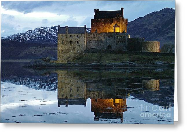 Eilean Donan Castle At Dusk Greeting Card