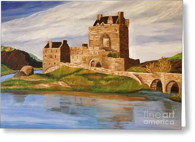 Eilean Donan Castle Greeting Card by Christy Saunders Church