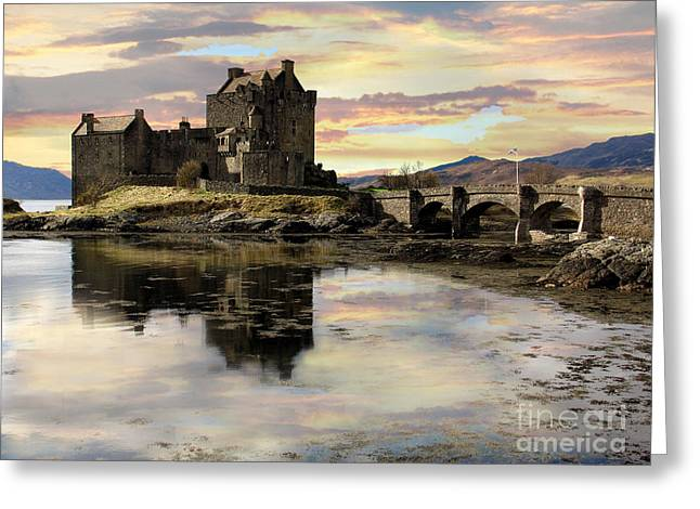 Greeting Card featuring the photograph Eilean Donan Castle Scotland by Jacqi Elmslie