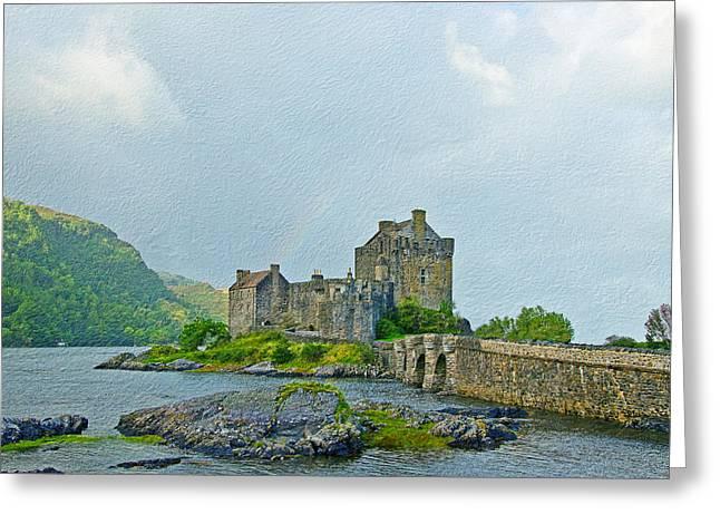 Eilean Donan Castle Textured 2 Greeting Card