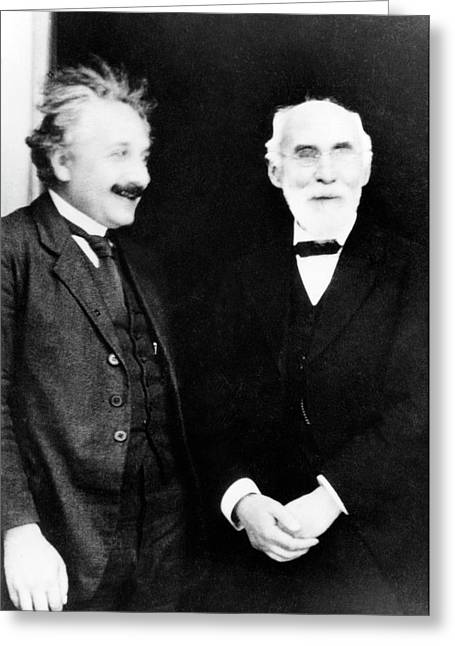 Einstein And Lorentz Greeting Card by Emilio Segre Visual Archives/american Institute Of Physics