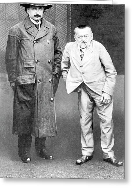 Einstein And Steinmetz Greeting Card by Emilio Segre Visual Archives/american Institute Of Physics