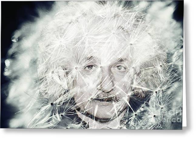 Einstein Dandy Greeting Card