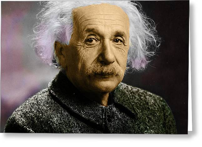 Einstein Explanation Greeting Card
