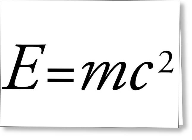 Einstein's Mass-energy Equation Greeting Card by Science Photo Library