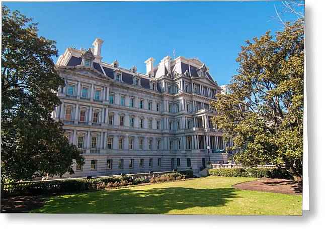 Eisenhower Executive Office Building In Washington Dc Greeting Card