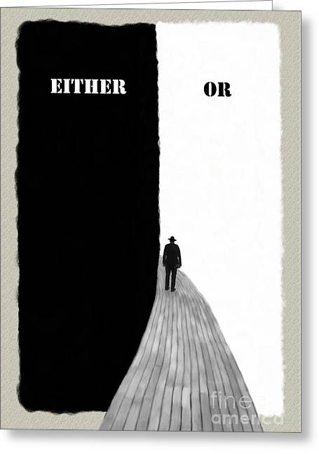 Either Or Greeting Card