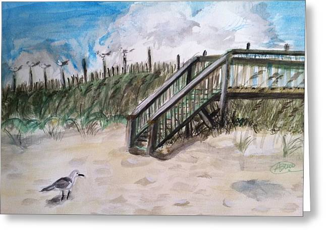Ejoying The View  Greeting Card by Asuncion Purnell