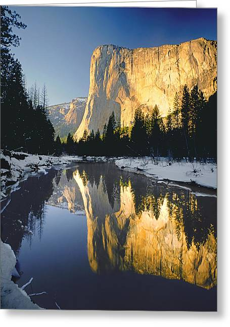 2m6542-el Cap Reflect Greeting Card