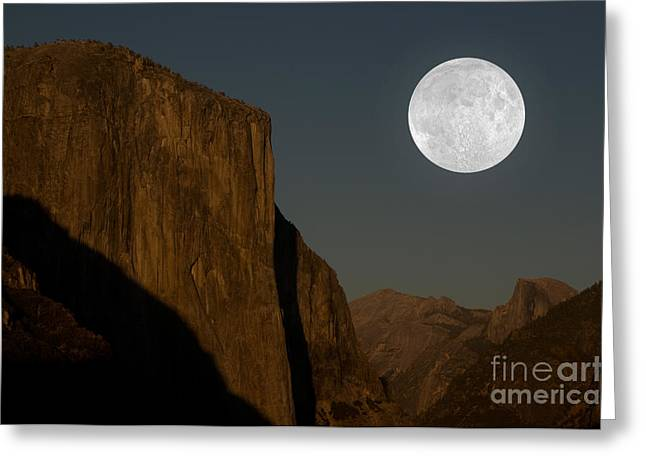 El Capitan And Half Dome Greeting Card by Mark Newman