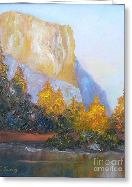 El Capitan Light Greeting Card by Carolyn Jarvis