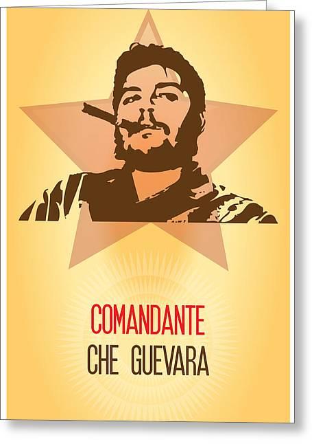 El Comandante Che Guevara Greeting Card by Florian Rodarte