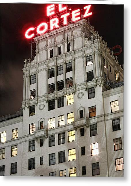 El Cortez II Greeting Card by Stephen Stookey