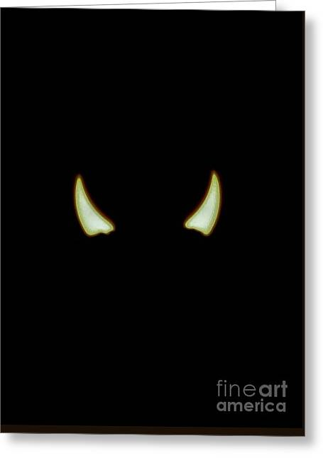 El Diablo Greeting Card by Angela J Wright