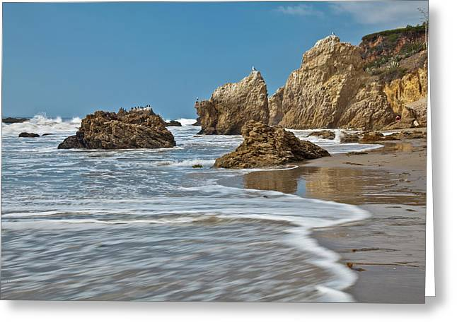 El Matador State Beach, Malibu, Los Greeting Card by Peter Bennett