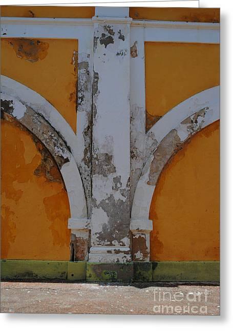 El Morro Deep Yellow Arch Greeting Card
