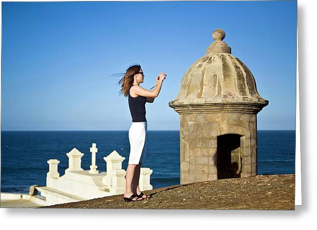 El Morro Fortress And Church Greeting Card by Miva Stock