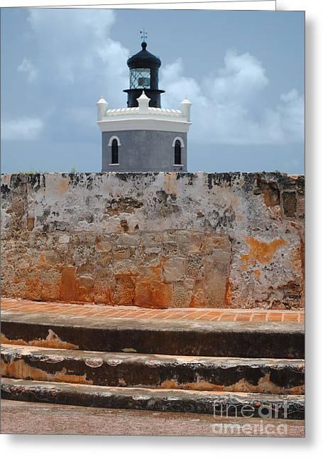 El Morro Light Tower Greeting Card