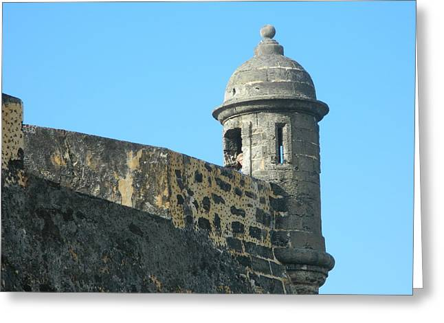 El Morro Parapet 1 Greeting Card by David  Ortiz